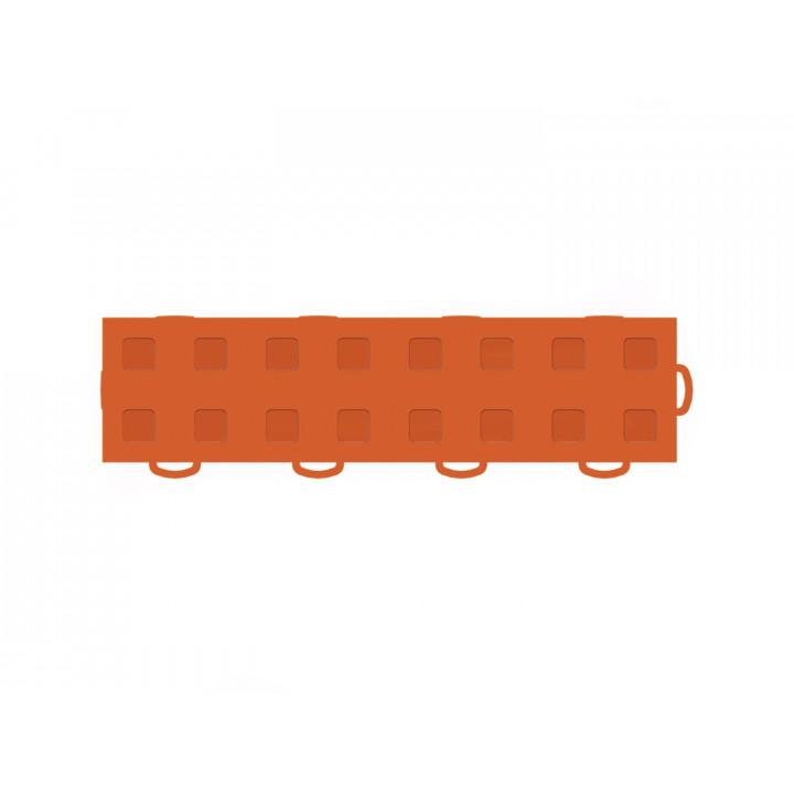 WeatherTech 51T312RL OR-OR - TechFloor - Garage Floor Tile - (Orange/Orange) - (Interlocking - Right Loop) - (3 in. x 12 in.) - (Pack of 10)