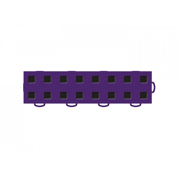 WeatherTech 51T312RL PU-BK - TechFloor - Garage Floor Tile - (Purple/Black) - (Interlocking - Right Loop) - (3 in. x 12 in.) - (Pack of 10)