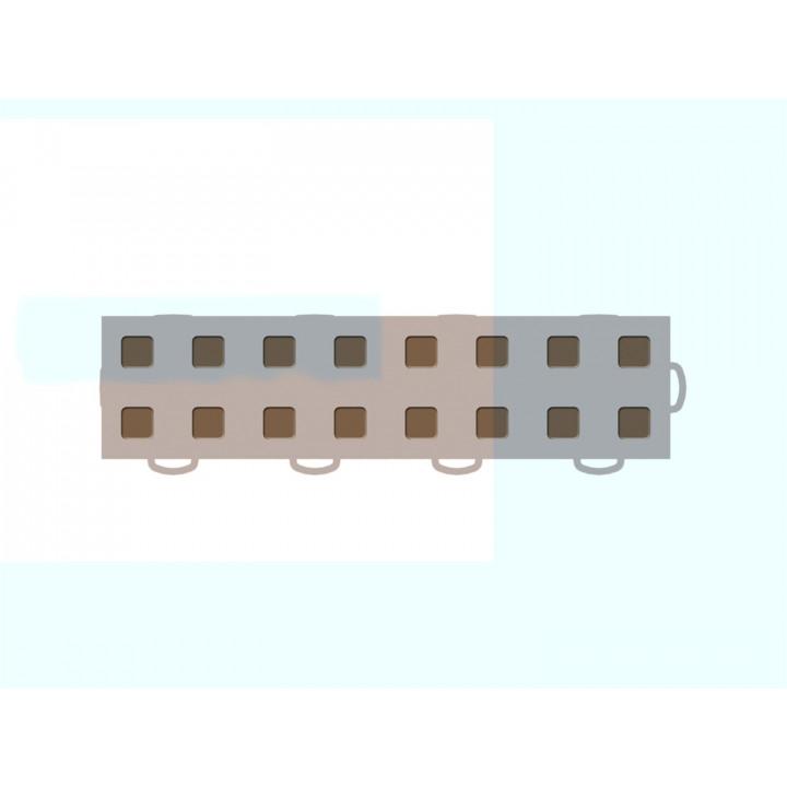 WeatherTech 51T312RL TN-MB - TechFloor - Garage Floor Tile - (Tan/Md Brown) - (Interlocking - Right Loop) - (3 in. x 12 in.) - (Pack of 10)