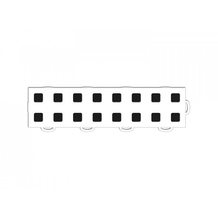 WeatherTech 51T312RL WH-BK - TechFloor - Garage Floor Tile - (White/Black) - (Interlocking - Right Loop) - (3 in. x 12 in.) - (Pack of 10)