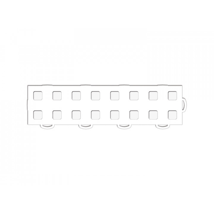WeatherTech 51T312RL WH-WH - TechFloor - Garage Floor Tile - (White/White) - (Interlocking - Right Loop) - (3 in. x 12 in.) - (Pack of 10)