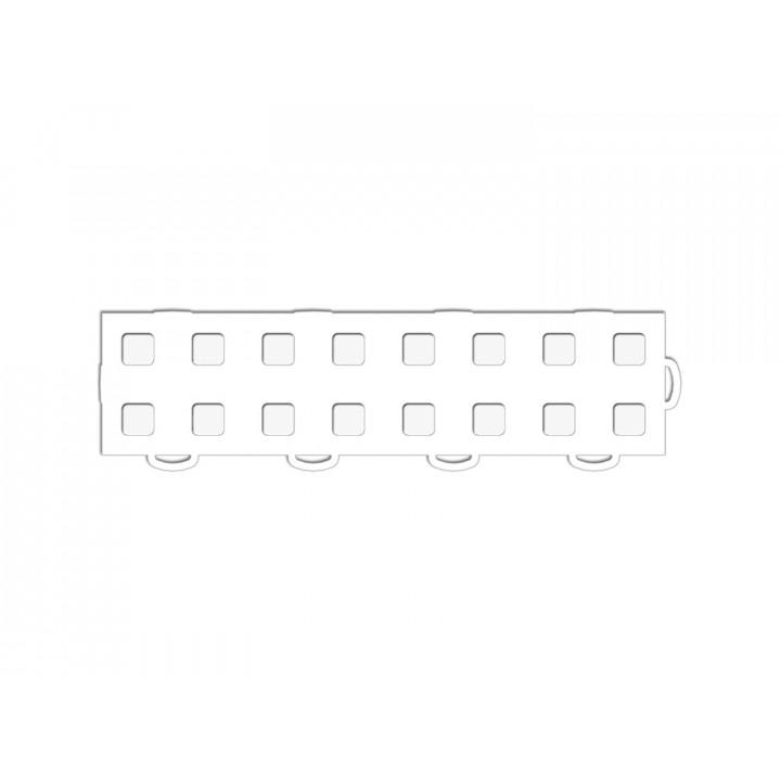 WeatherTech 51T312RL WH-WH - TechFloor - Garage Floor Tile - (White/White) - (Interlocking - Right Loop) - (3 in. x 12 in.) - (Pack of 10)