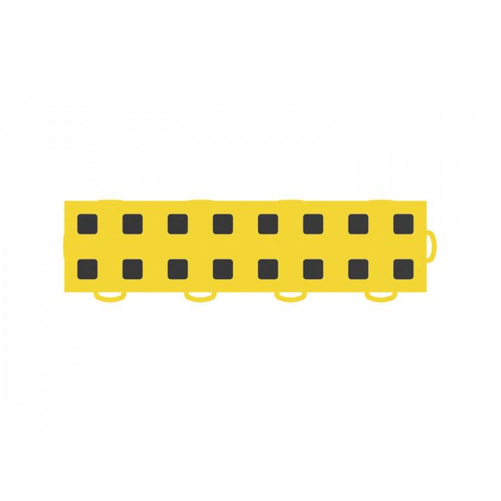 WeatherTech 51T312RL YL-BK - TechFloor - Garage Floor Tile - (Yellow/Black) - (Interlocking - Right Loop) - (3 in. x 12 in.) - (Pack of 10)