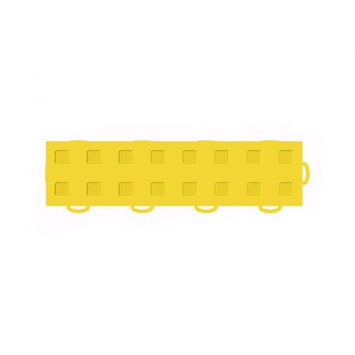 WeatherTech 51T312RL YL-YL - TechFloor - Garage Floor Tile - (Yellow/Yellow) - (Interlocking - Right Loop) - (3 in. x 12 in.) - (Pack of 10)