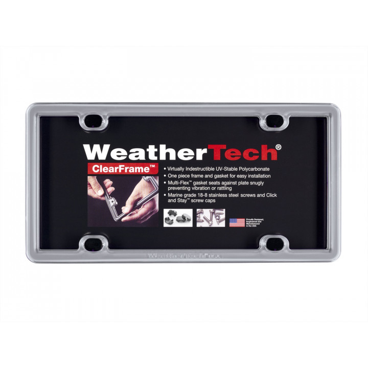 WeatherTech 8ALPSS1 - Stainless Steel License Plate Frame - Accessory - Stainless Steel