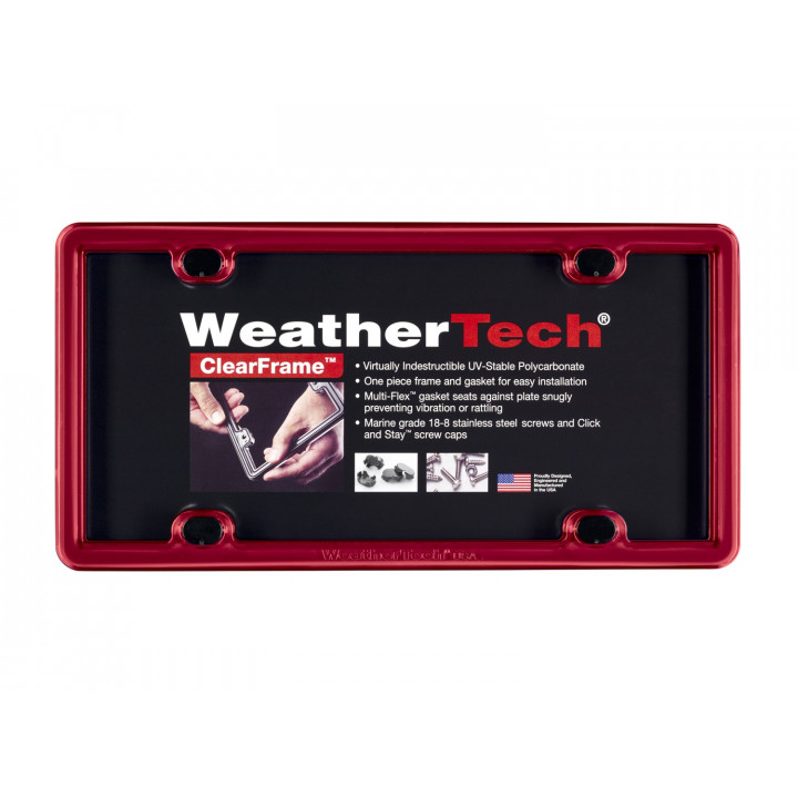 WeatherTech 8ALPCF1 - Clearframe - Accessory - Red