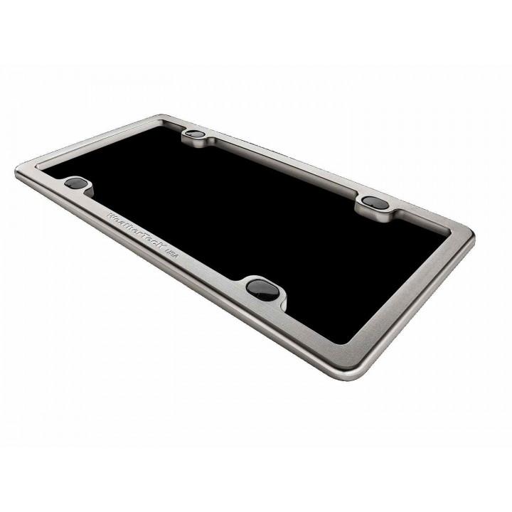 WeatherTech 8ALPF3 - License Plate Frame - (Billet) - (Titanium)