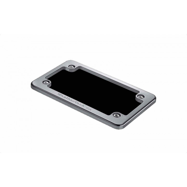 WeatherTech 8ALPF2 - License Plate Frame - (Billet) - (Silver)