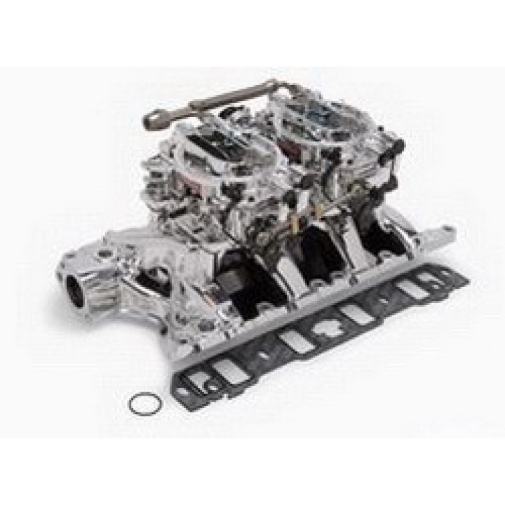 Edelbrock 2076 - Performer RPM Dual Quad Air-Gap Manifold and Carburetor Kits