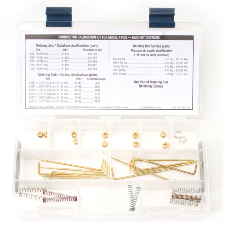 Edelbrock 1479 - Performer Series Carburetor Calibration Kits