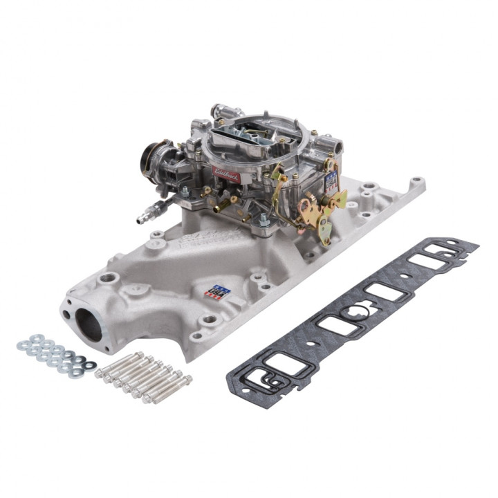 Edelbrock 2031 - Performer Intake Manifold and Carburetor Kits