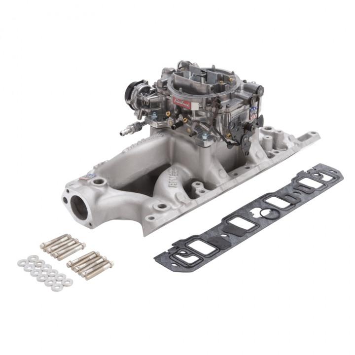 Edelbrock 2033 - Performer RPM Air-Gap Intake Manifold and Carburetor Kits