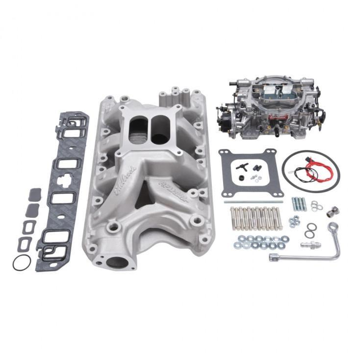 Edelbrock 2034 - Performer RPM Air-Gap Intake Manifold and Carburetor Kits