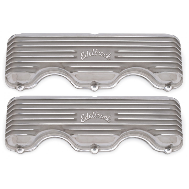 Edelbrock 4140 - Classic Cast Aluminum Valve Covers