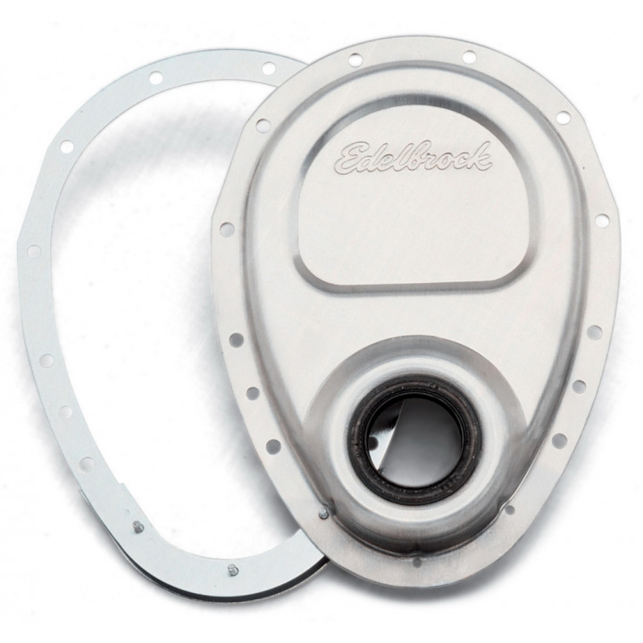 Edelbrock 4242 - Two-Piece Aluminum Timing Covers